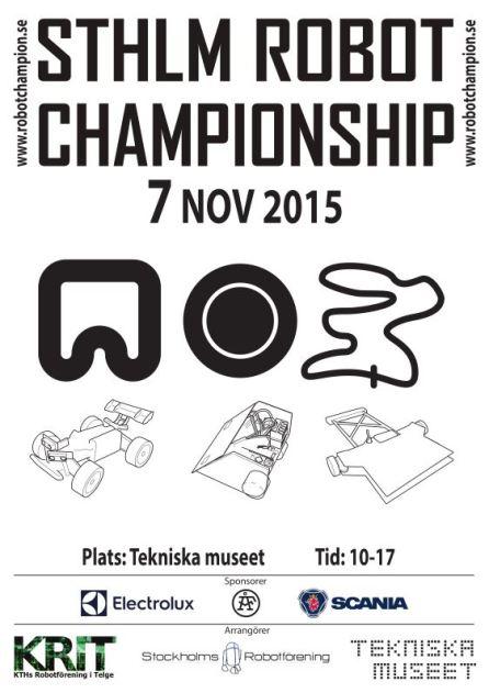 Poster Stockholm Robot Championship 2015