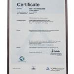 certyfikat iso ts 16949:2009 Rocar
