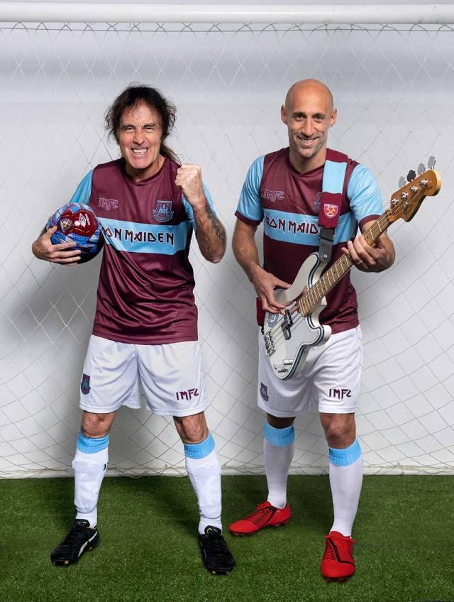 Iron Maiden se une al West Ham United en una colaboración especial