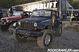 08 morning trailer Jeep JK at Superlift ORV Park