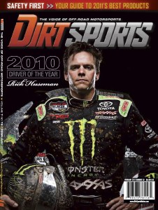 "2011 02 DirtSportsCover RickHuseman 226x300 Rick Huseman Named 2010 Dirt Sports Magazine ""Driver of the Year"""