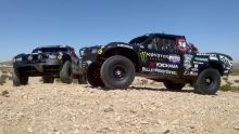Desert Assassins Trophy Trucks photo by Kim Bird 220x124 Yokohama Tire Corporation Sponsored Off Roaders Kick Off Season at SCORE Laughlin Desert Challenge, Jan. 14 15