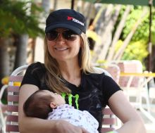 Heidi Steele and baby daughter 220x189 New Yokohama Tire Corporation Video Highlights the Return of Off Road Champion Heidi Steele to Racing after Becoming a Mother