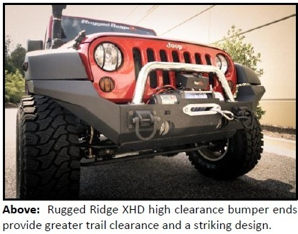 Rugged Ridge XHD High Clearance Bumper Ends 1 NEW RUGGED RIDGE XHD HIGH CLEARANCE BUMPER ENDS FOR JEEP® '07 '13 JK WRANGLER NOW AVAILABLE