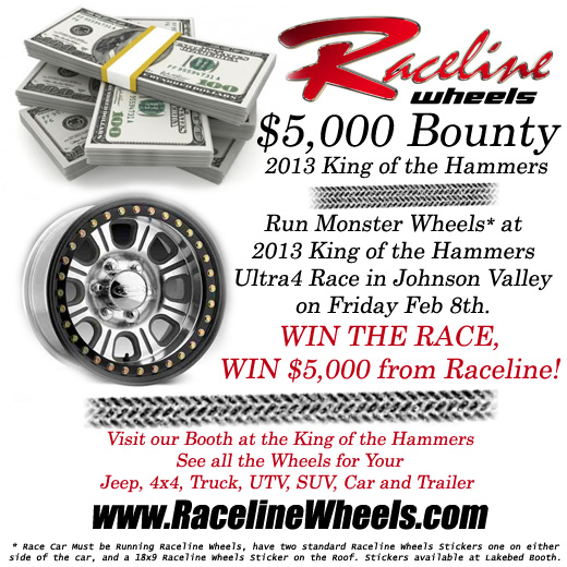Raceline2013KOHBounty Raceline Wheels Monster $5,000 Bounty at 2013 King of the Hammers