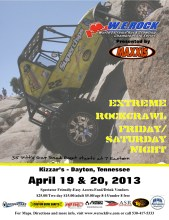 WE Rock 4.19 169x220 W.E. Rock Professional Rock Crawling Eastern Season Opener this Weekend in Dayton, TN