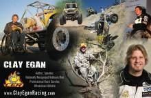 Clay Egan Flyer 1 220x142 Quadriplegic Offroad Racer Clay Egan Continues Inspirational and Motivational Speaking Tours Across the US