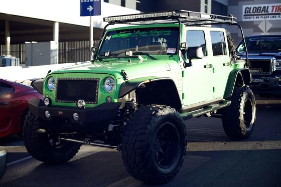 jeep wrangler green sema
