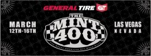 "2014 Mint 400 220x82 ""The Great American Off Road Race"", The General Tire Mint 400, Returns to Las Vegas March 12th – 16th"