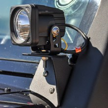 VisionX A Pillar Mount Optimus LED Light 220x220 Vision X Lighting introduces Bolt On Light Mounts for 07 14 Jeep Wrangler JK
