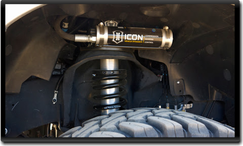 ICON Ram coilover reservoir ICON RAM 2500/3500 Coilover Conversion Systems