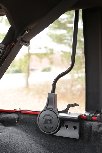 Rugged Ridge Jeep Soft Top Spring Assist Installed - Closeup (High Res)