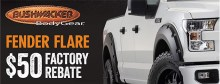 Bushwacker Factory Rebate 220x84 Bushwacker Factory Rebate Offer