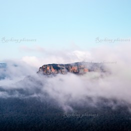 Sunrise over the Tree Sisters, Katoomba, Blue Mountains