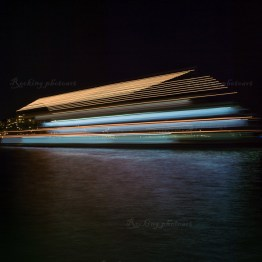 A boat in the night