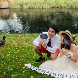 Why do you need a wedding photographer when you can take it yourself?