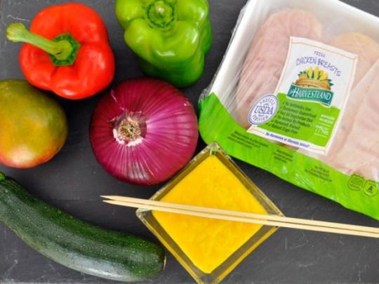 Mango Chicken Skewers Ingredients