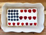 No Bake Red, White, and Blue Icebox Cake