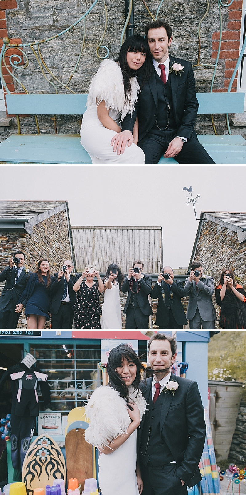A stylish cornwall sornish wedding with a designer wedding dress by 3.1 Philip Lim 0430 High Tide.