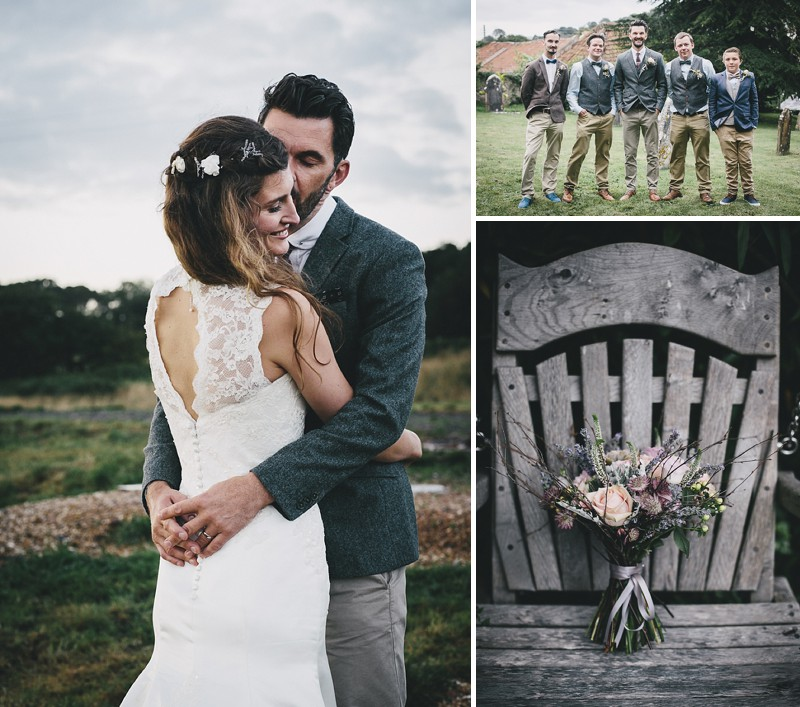 A rustic wedding at River Cottage in Devon with hand made DIY favours and grey silver bridesmaid dresses from Monsoon 0001 Rustic Romance At River Cottage.