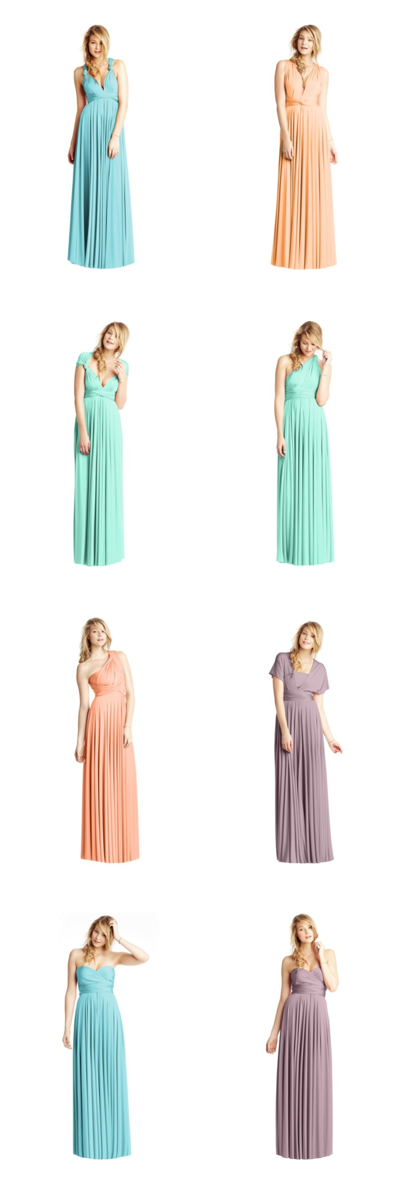 ATwobirds bridesmaids dresses new pastel shades peach mint heather and duck egg 0536 Pretty Pastels From Twobirds Bridesmaids!