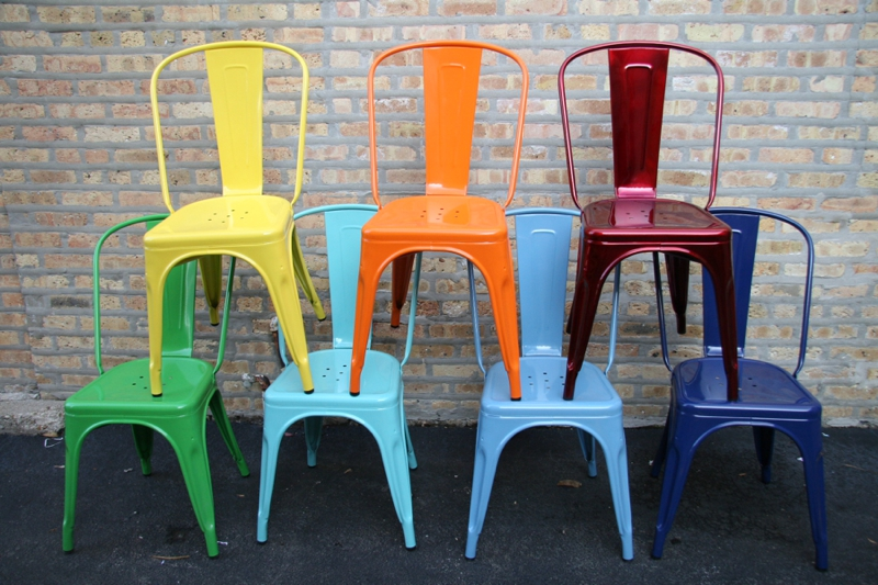 bistro cafe chairs at cult Furniture blue orange yellow pink red silver 0573 Ask The Experts   The Wedding Gift List Prezola