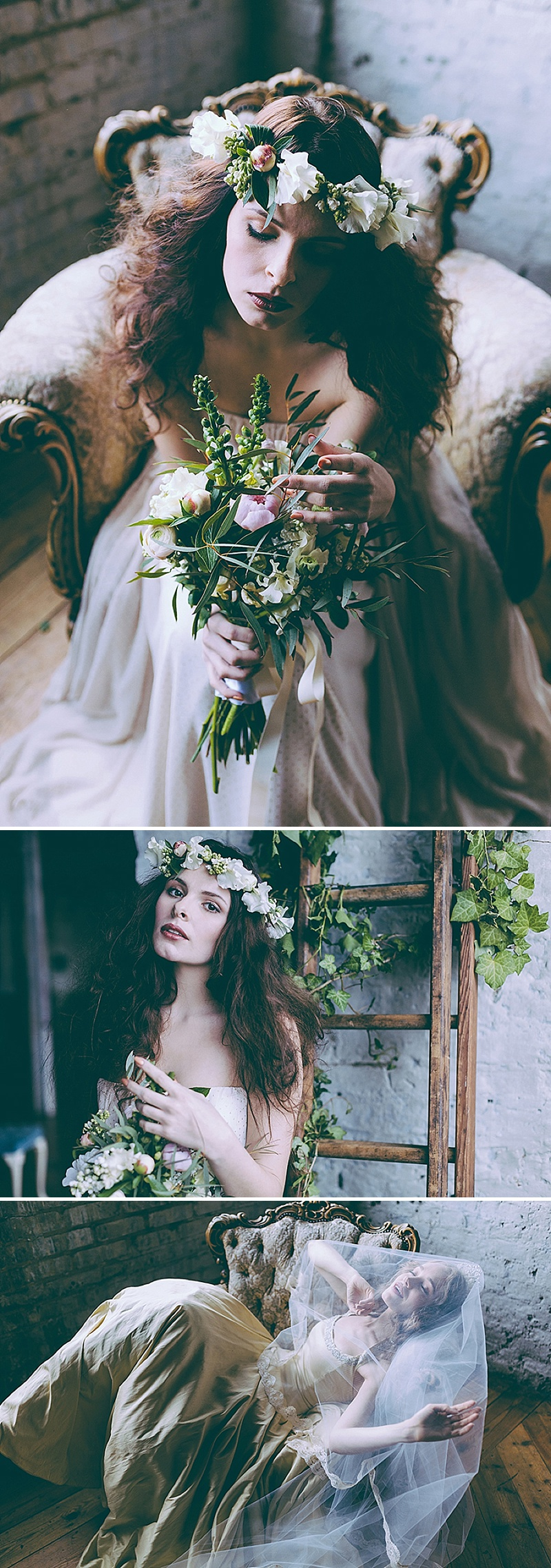 Rustic And Romantic Fairytale Bridal Inspiration Shoot With Gowns From Faith Caton Barber And Accessories From Rosie Weisencrantz With Images By Miss Gen Photography 1 The Sleeping Beauty Bride.