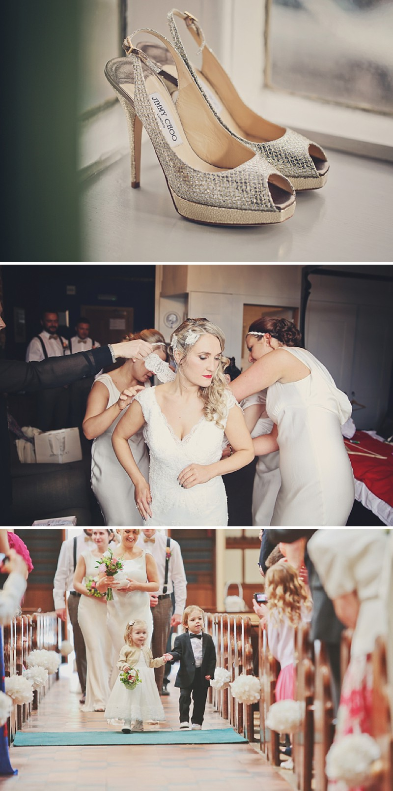 A 1920 vintage wedding at The Gatsby in Berkhamstead with a Lusan Mandongus dress and bridesmaids in ghost 0195 Cocktails, Chandeliers And 1920s Chic.