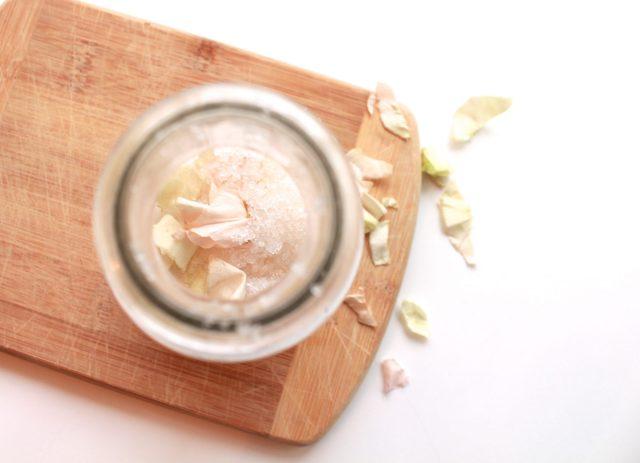 DIY Rose Infused Bath Salts