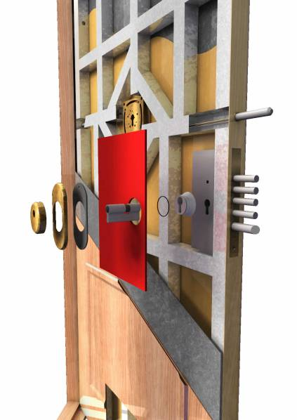 Puerta acorazada olimpo plus roconsa - Precio puerta blindada ...