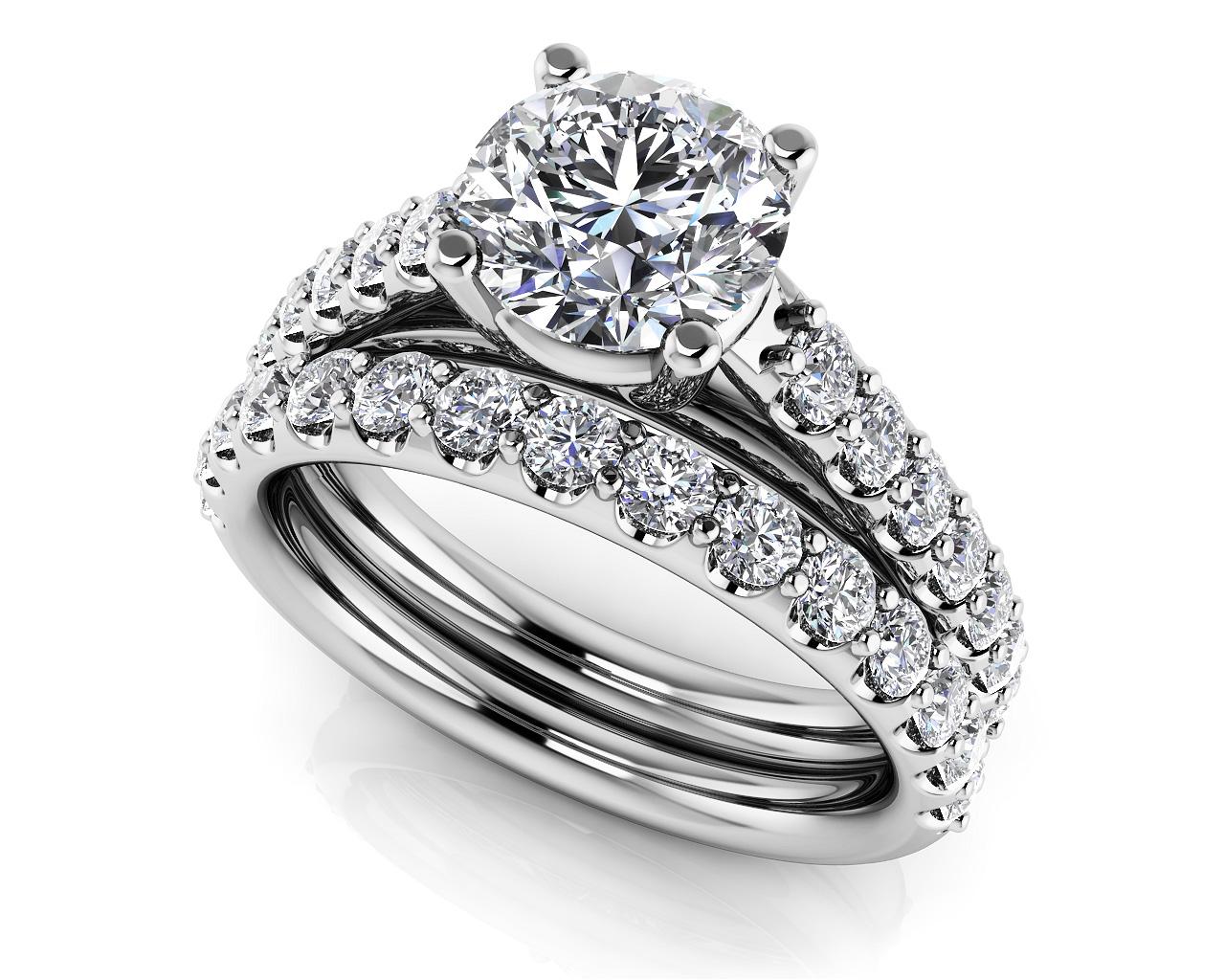 wedding sets wedding set Classic Sparkle Diamond Wedding Set