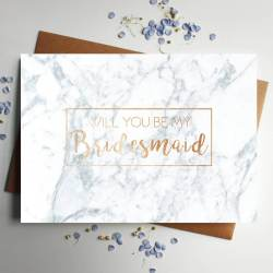 Piquant Will You Be My Bridesmaid Will You Be My Bridesmaid Rose G Foiled Marble Card Designed By Will You Be My Bridesmaid Cookies Will You Be My Bridesmaid Quotes
