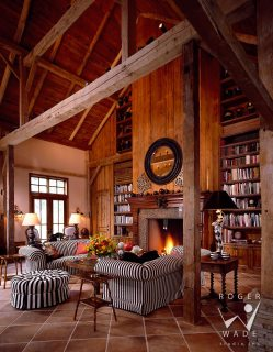 Small Of Rustic Home Library