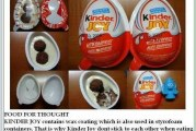 Kinder Joy wax coating causes cancer?