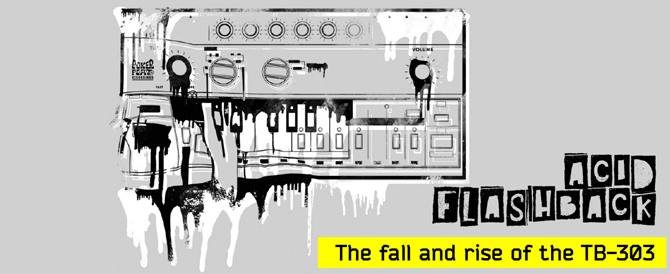 Roland TB-303 melting graphic
