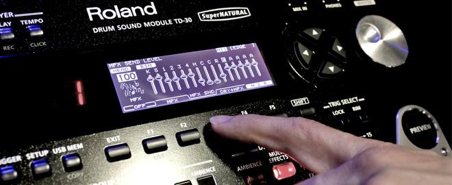 Roland TD-30 module drum effects