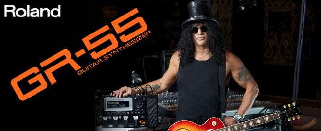 Slash With a GR-55 Guitar Synth