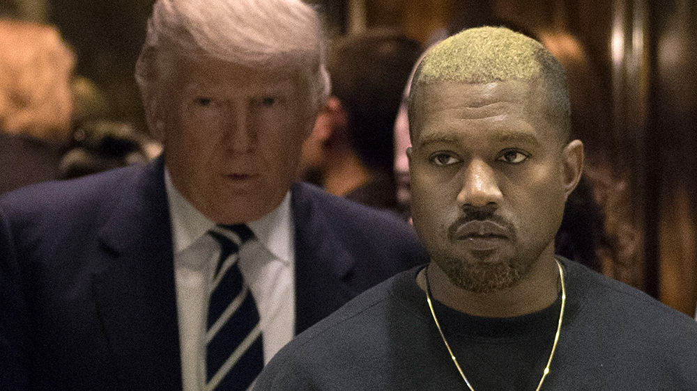 Does Kanye West Really Support Donald Trump      Rolling Stone Kanye and Alex Jones Twain