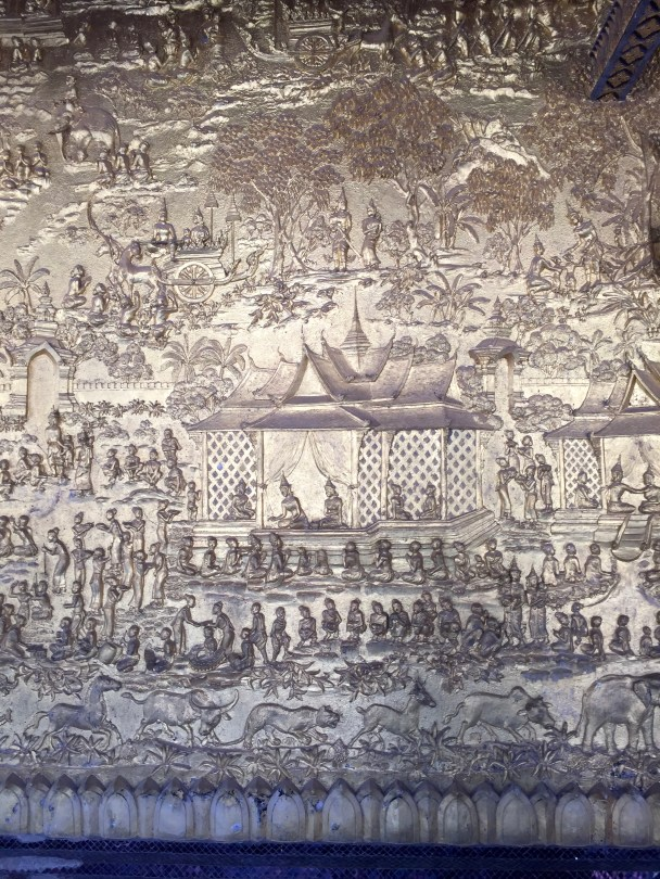 A relief in one of the Buddhist temples