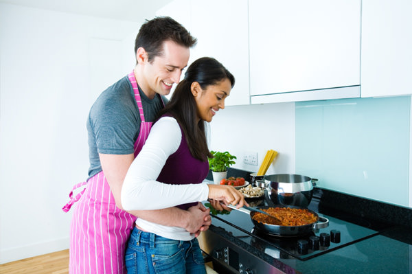 couples cooking together