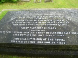 The Grave of Mary Shelley, The Parish Church of St Peter, Bournemouth.