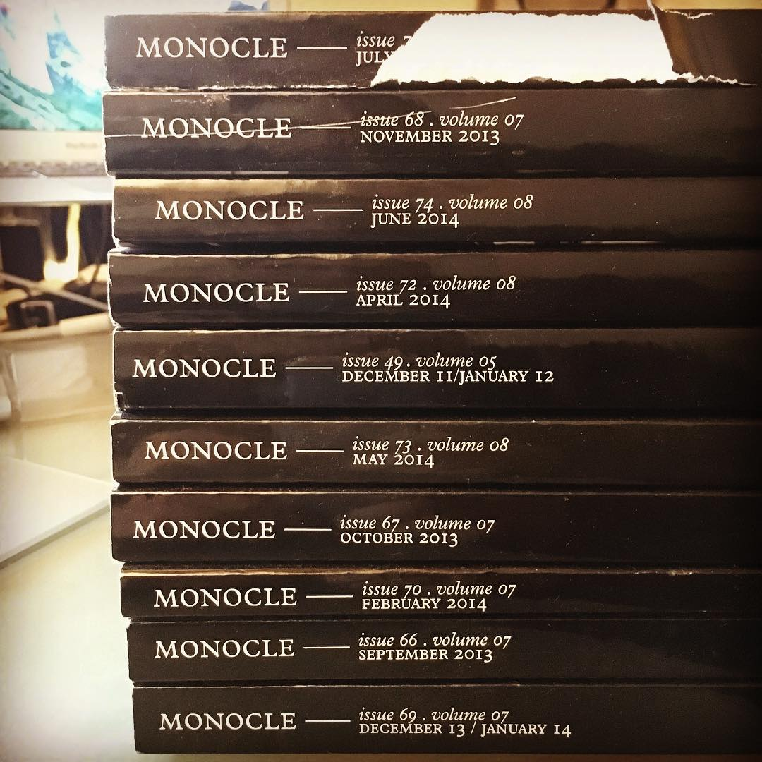 Anyone wants some old MONOCOLE magazines - just come over and grab em! otherwise they go into paper recycling end of week #monocle #magazine