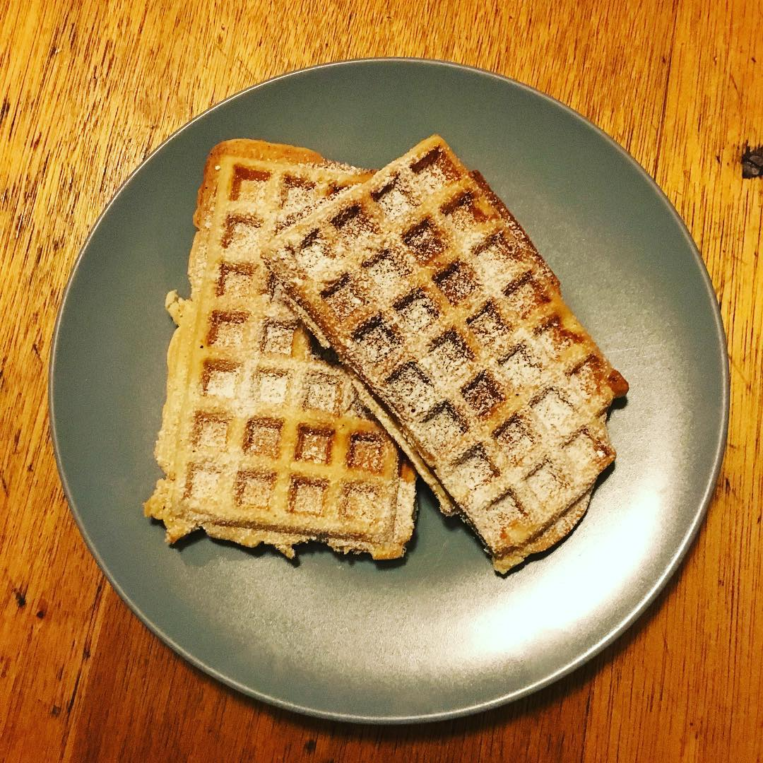 Vegan Waffels and Tatort :)
