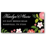 Address Label FLoral