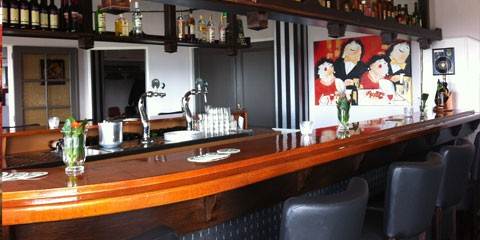 Bar with painting