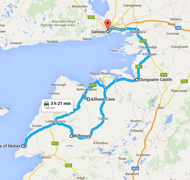 Galway Day Trip Map|Roots and Wings Family Travel
