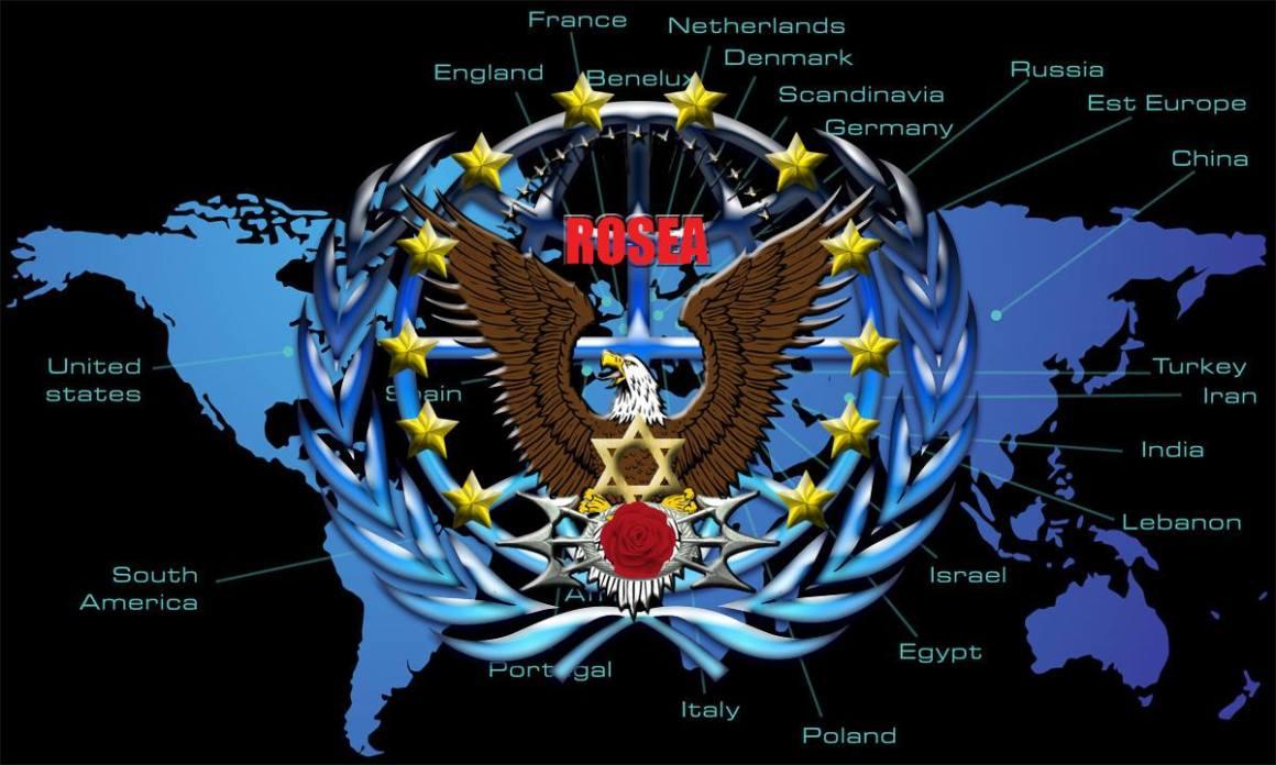 logotipo de rossea no mundo