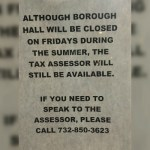 Tax Assessor's Office To Be Open On Fridays During Summer