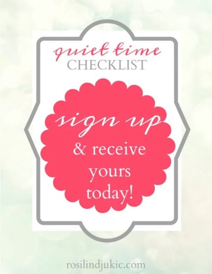 Download this quiet time checklist today!