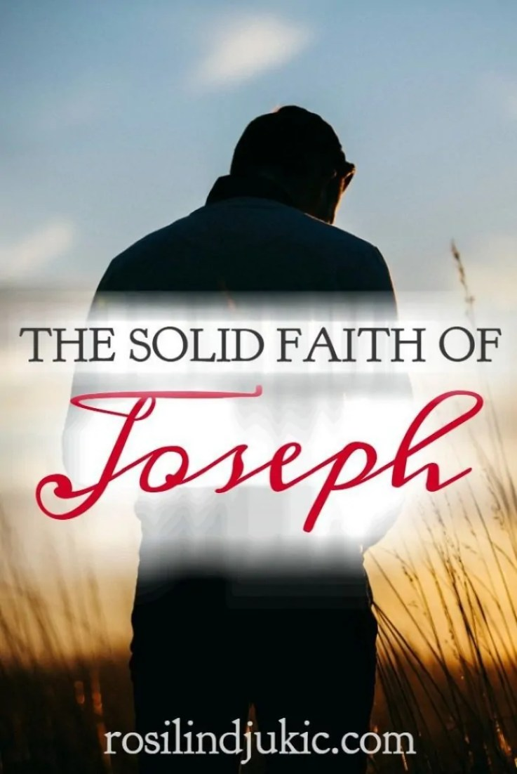 Imagine the faith Joseph must have had to stand by Mary despite the reputation she had among her family and peers.